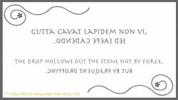 Latin expression in boustrophedon