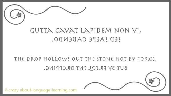Latin expression in boustrophedon writing