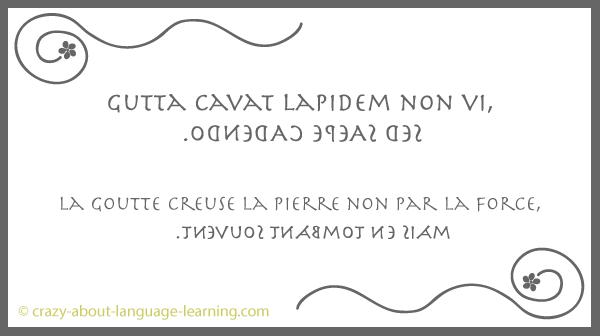 Expression latine en boustrophédon