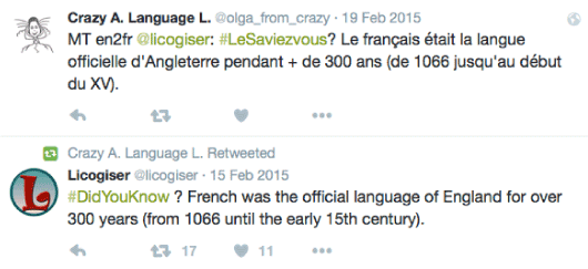 French official language of England during 300 years