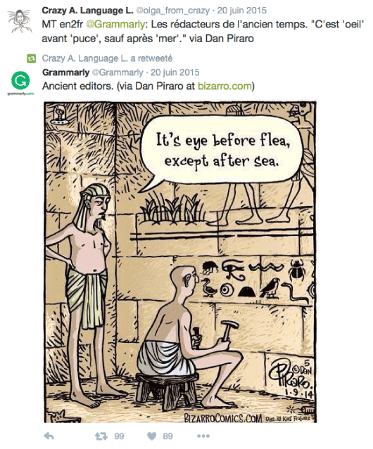 Hieroglyph humor on Twitter