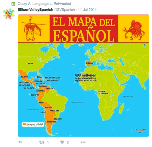 Map of Spanish-speaking countries