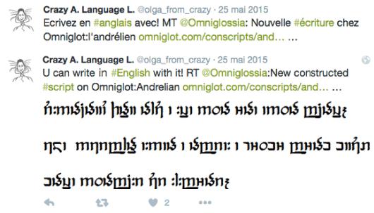 New constructed script : Andrelian