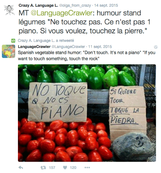 Vegetable humor on Twitter