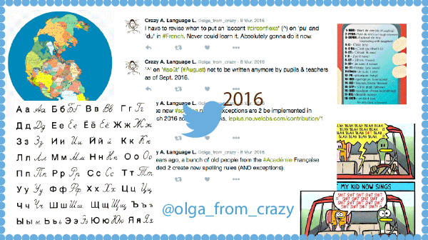 Année Twitter 2016 de Crazy About Language Learning