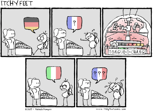 ItchyFeet Comic traduction