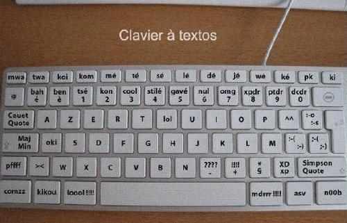 SMS keyboard humor
