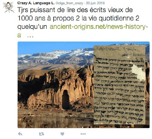 Lettre vieille de 1000 ans