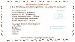 Exercices de grammaire anglaise