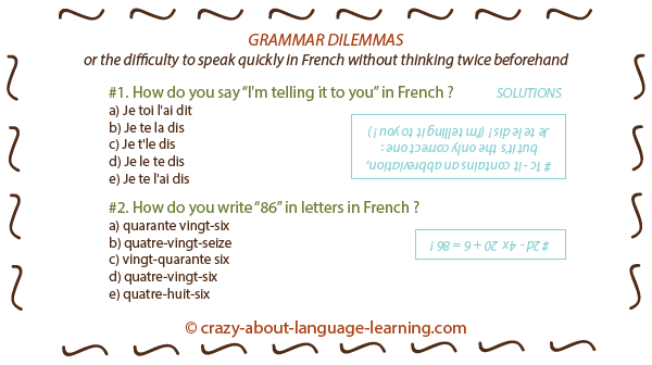 French grammar difficulties