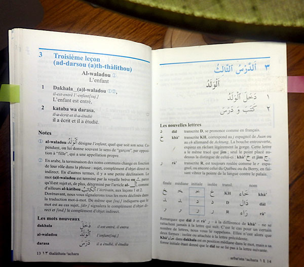 My Assimil book for Arabic