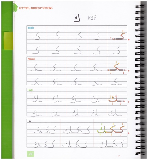 How to draw Arabic letters