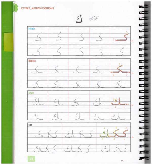 Comment écrire les lettres en arabe