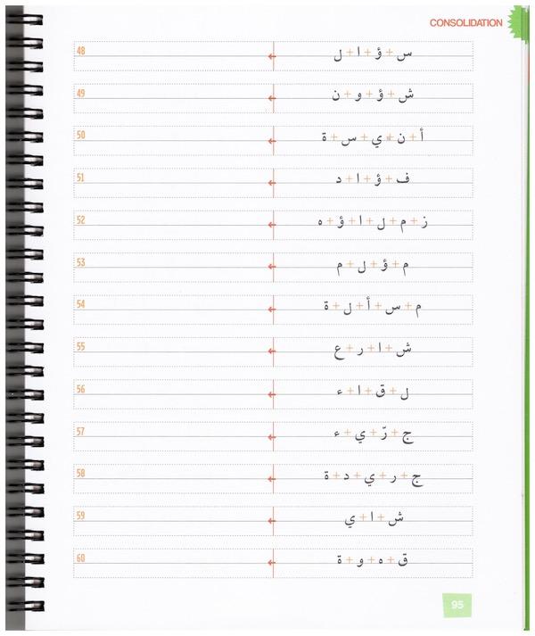 Lier les lettres en arabe