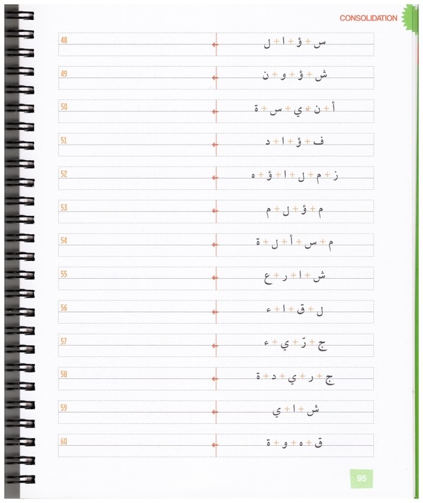 Linking Arabic letters